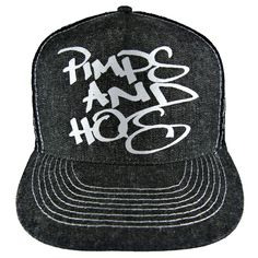 Beverly Hills Pimps & Hos Denim Trucker Hat #bhph #beverlyhillspimpsandhos #beverlyhillspimpsandhoes #pimpsandhos #pimpsandhoes #beverlyhills #hat #trucker #truckerhat #headwear #cap #baseballcap #grey #oldenglish #streetwear #clothing #snapback #fitted #fashion #la #losangeles #denim #silver