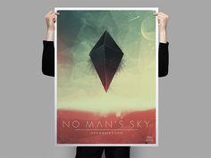 No Man's Sky - Graphic Design Poster