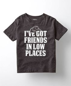 Charcoal 'I've Got Friends in Low Places' Tee - Toddler & Kids