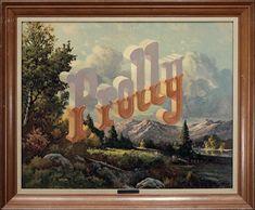 "Wayne White, ""Prolly"", acrylic on offset lithograph Urban Landscape, Landscape Design, Garden Design, Wayne White, Sweet Woodruff, Traditional Landscape, Foliage Plants, Cool Landscapes, Native Plants"