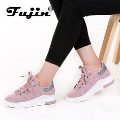 56d6d194538 Fujin Brand 2018 Spring Women New sneakers Autumn Soft Comfortable Casual  Shoes Fashion Lady Flats Female shoes for student