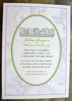 Vintage Book Baby Shower Invitation by SpillingBeans on Etsy, $1.50