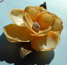 """Real Sea Shell lily pad Lake/Pond FLOWER 6"""" Art Sculpture Décor Seashell Art, Seashell Crafts, Beach Crafts, Seashell Projects, Shell Flowers, Shell Ornaments, Lily Pad, Shell Jewelry, Mix Media"""