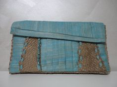 Turquoise bag by totoverien on Etsy