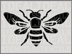 Bumble Bee STENCIL, home DECOR, painting stencil, wall stencil, craft art, Ideal Stencils Ltd