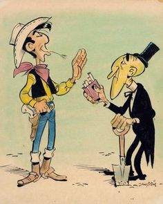"""Lucky Luke is a Belgian comics series created by Belgian cartoonist Maurice De Bevere, better known as Morris, and for one period written by René Goscinny. Set in the American Old West, it stars the titular character, Lucky Luke, the cowboy known to """"draw faster than his shadow"""". Along with The Adventures of Tintin and Asterix, Lucky Luke is one of the most popular and best-selling comic-book series in continental Europe"""