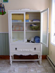 Re purposed cabinet by me!