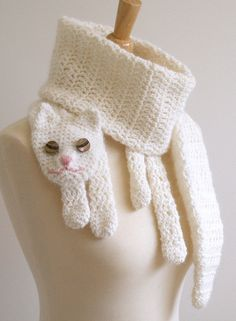 crochet cat scarf