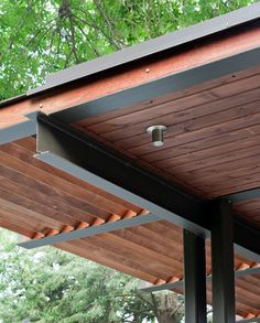 modern pergola - some covered, some with openings