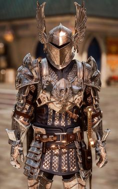 I love it when Grey Warden armour shows up in other categories! Armadura Medieval, Arm Armor, Body Armor, Medieval Armor, Medieval Fantasy, Armadura Cosplay, Costume Armour, Grey Warden, Armor Clothing