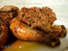 Pollo ripieno al forno - Baked stuffed chicken - @Cucini_AmO
