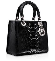 "LADY DIOR - Bleu Persan leather ""Lady Dior bag"