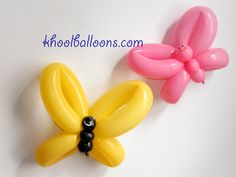 Butterfly balloon animals for baby shower idea. Easy Balloon Animals, Ballon Animals, Animal Balloons, Balloon Crafts, Balloon Decorations, Sculpture Ballon, Baloon Art, Butterfly Balloons, Twisting Balloons