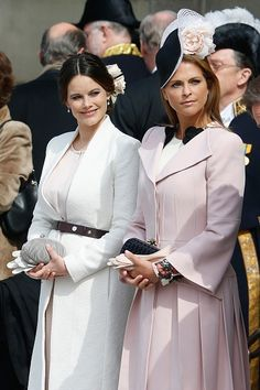 (L-R) Princess Sofia and Princess Madeleine of Sweden are seen at the celebrations of the Swedish Armed Forces for the 70th birthday of King Carl Gustaf of Sweden on April 30, 2016 in Stockholm, Sweden.
