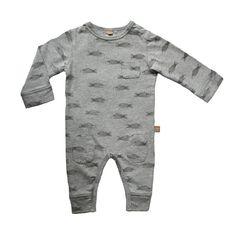 Lötiekids / Grey printed pajama/playsuit