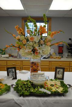 Peach Wedding Flower Arrangement