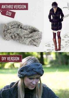 Knit a braided head wrap. | 38 Anthropologie Hacks