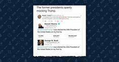 FACT CHECK: Three Former Presidents Mocked Trump on Twitter?