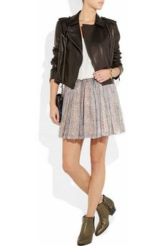 Girl. by Band of Outsiders  Printed silk-blend chiffon mini skirt
