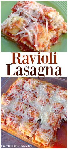 Try this Easy Ravioli Lasagna for a quick and comforting meal on gracefullittlehoneybee.com