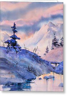 Spruce Shadows Greeting Card by Teresa Ascone