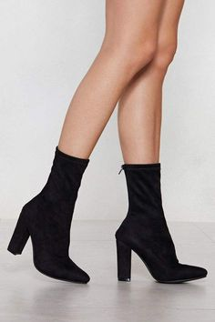 Nasty Gal Step By Step Sock Boot