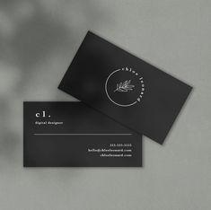 The Shop by Chloe Leonard Professional Business Card Design, Simple Business Card Design, Professional Image, Cute Business Cards, Web Design Websites, Calling Cards, Chloe, Designer, Visit Cards