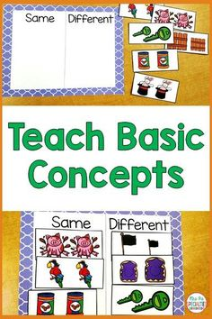 Help students learn and demonstrate knowledge of same and different in students with disabilities. Being able to differentiate between same and different is a crucial life skill. It will also help students be able to demonstrate their abilities better on assessments. These tasks will help students in special education, life skills programs, autism classes, and preschool classrooms.