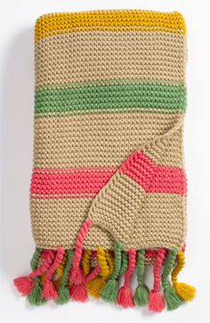 Nordstrom at Home Color Play Knit Throw -- this looks like such a simple pattern and yet it is charming!    We could do this!  : )