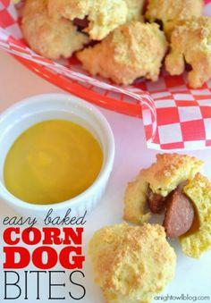 Easy Baked Corn Dog Bites Recipe