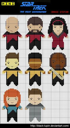 Star Trek TNG Cross Stitch Charts