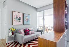 Modelos de sofá tradicional cinza Projeto de Duda Senna