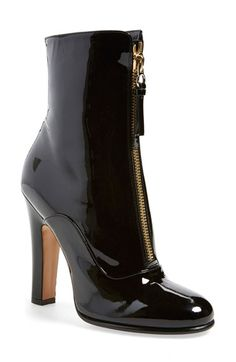 Valentino 'Rebelle' Round Toe Zip Bootie (Women) available at #Nordstrom
