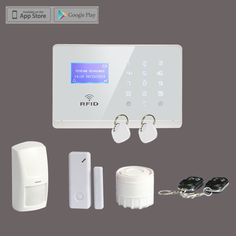 Wireless GSM SMS RFID Smart Home Alarm System Remote Control with LCD Display Touchscreen,Free Shipping