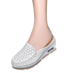 candyanglehome Womens Summer Hollow Out Wedge Heel Thick Crust Casual Slippers Sandals * You can find more details by visiting the image link.