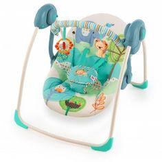 Bright Starts #Columpio Portatil Playfull pals. Columpio con la tecnología truespeed, que mantiene la misma velocidad sin depender del peso del niño, muy ligero y plegable para poder llevarlo contigo a todas partes.