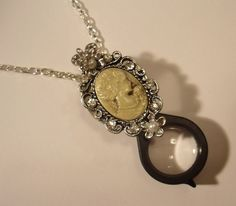 Hey, I found this really awesome Etsy listing at https://www.etsy.com/listing/172057245/black-and-silver-magnifying-glass