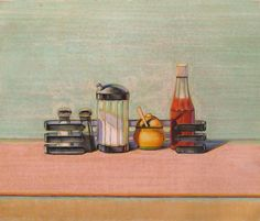 Caged Condiments, 2000 - Wayne Thiebaud - WikiPaintings.org