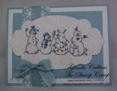 Snowmen in a Blizzard by Glenda Calkins - Cards and Paper Crafts at Splitcoaststampers