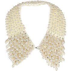 Mega Pearl Collar ($60) ❤ liked on Polyvore