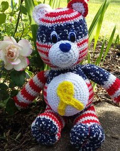 Check out this item in my Etsy shop https://www.etsy.com/listing/520248580/support-our-troops-awearbear-awareness