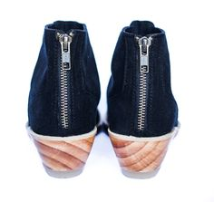 We're super excited to launch our first bootie with a super comfy natural wood…