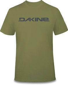 92e8bed53f9 New 2019 Dakine Men s Da Rail S S T-Shirt Large Olive Drab