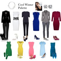 The red would have to be clearer for me Cool Winter Palette by expressingyourtruth on Polyvore