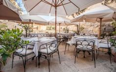 Rampila is a popular restaurant for its combination of romantic historic setting and great modern Mediterranean food