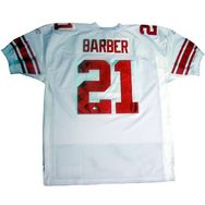 Tiki Barber Autographed Authentic White Jersey - Jerseys Memorabilia   steinersports Manning Nfl d1c33be77