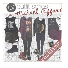 """5sos outfit series: Michael Clifford"" by the-amazing-tip-chickas ❤ liked on Polyvore"