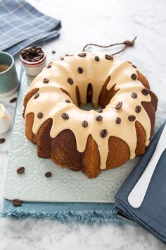 Ciambella al caffè Soffice e Alta: Ricetta Torta al caffè Quick Dessert Recipes, Healthy Recipes, Good Food, Yummy Food, Plum Cake, Cake Photography, Chiffon Cake, Daily Meals, Food Photo