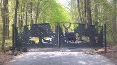 Driveway Gates Designs | Deer Gates | Metal Art Entrance Gates