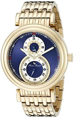 Men's Wrist Watches - Lucien Piccard Mens LP10618YG33 Polaris GoldTone IonPlated Stainless Steel Watch * Find out more about the great product at the image link.